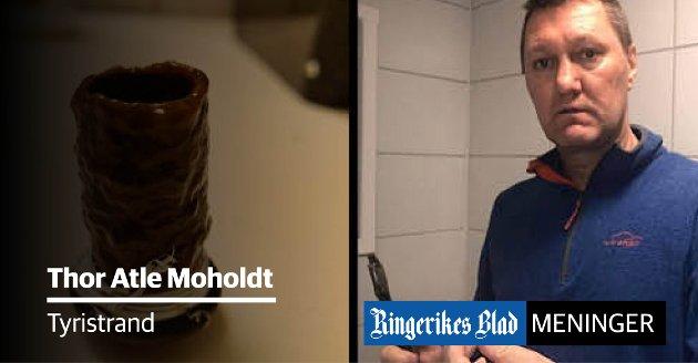 AVLEIRINGER: – Vi må kunne forvente at det kommer rent vann ut av krana hjemme, skriver Thor Atle Moholdt.