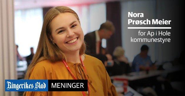TILLIT: – Vi mener det er på tide å gi ungdom tillit, og anerkjenne at deres mening betyr noe, skriver Nora Prøsch Meier (Ap).