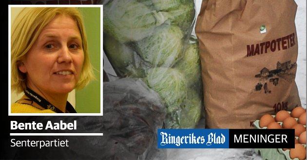 KLIMA OG MILJØ: – Lokalmat handler ikke bare om lokal matkultur og historie, det handler også om lokal verdiskapning, bærekraft, klima og miljø, skriver Bente Aabel (Sp).