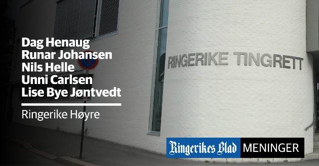 TUKLER IKKE: - Kari Anne Sand kommer med en rekke påstander i bset fall er bevisste misforståelser, skriver representanter for Ringerike Høyre.