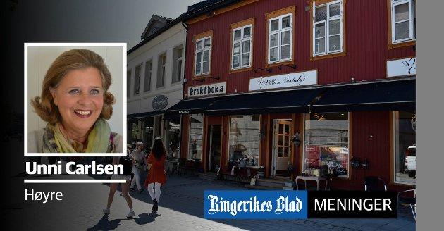 FELLES INNSATS: – Sammen kan vi få turistene til å bli her i flere dager, nettopp fordi Hønefoss og omegn har så masse å by på, skriver Unni Carlsen.
