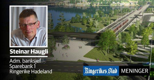 GOD BESLUTNING:  - I vår region skal det vokse mye de kommende årene, skriver Steinar Haugli, administrerende banksjef i Sparebank 1 Ringerike Hadeland.
