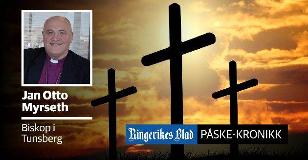 BÆRENDE: – Det bærende og helt sentrale ved påsken, er det faktum at Jesus døde for å forsone oss med Gud, skriver Tunsberg-biskop Jan Otto Myrseth.