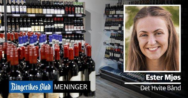 BLIR IKKE SETT: – Økt alkoholsalg, øker mulige tilfeller der barn og unge ikke blir sett, hørt, møtt og lyttet til på den måten de trenger, skriver Ester Mjøs.