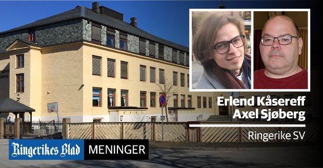 SKOLESCENE: – Dette er god næringspolitikk, god kulturpolitikk og ikke minst viktig for å holde bygningene våre i bruk, skriver Axel Sjøberg og Erland Kåsereff.