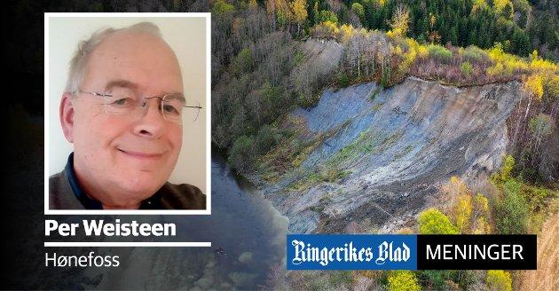 RAS: Bildet viser rasområdet ved Hovsenga i fjor høst.