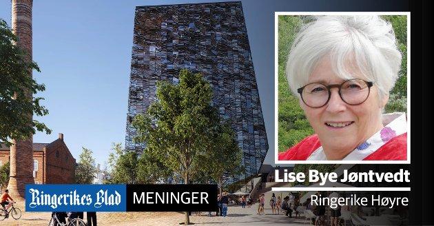 URBANT: – Skal vi oppnå befolkningsvekst, må vi tillate Hønefoss å være en attraktiv by med urbane kvaliteter, skriver Lise Bye Jøntvedt (H). (illustrasjon: Snøhetta)