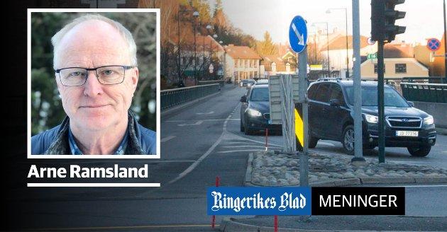 MANGE MENINGER: – At innbyggerne i Hønefoss har meninger i sakens anledning, er jo kjempebra, skriver Arne Ramsland.