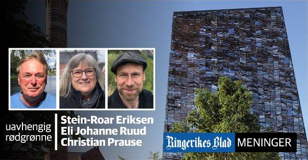 STORT ENGASJEMENT: – Vi har veid og vurdert argumentene, sier de tre partiuavhengig representantene i Ringeriks-politikken.