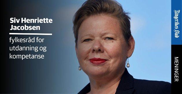 GARANTI: – Vi jobber med å få på plass ein læreplassgaranti, skriver Siv Henriette Jacobsen (Ap).