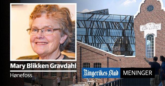 DEBATT: – Det er på høy tid at byggestil og utforming av byrom blir gjenstand for debatt, skriver Mary Blikken Gravdahl, som har engasjert seg i debatten om høyhus i Hønefoss.. (illustrasjon: Snøhetta)