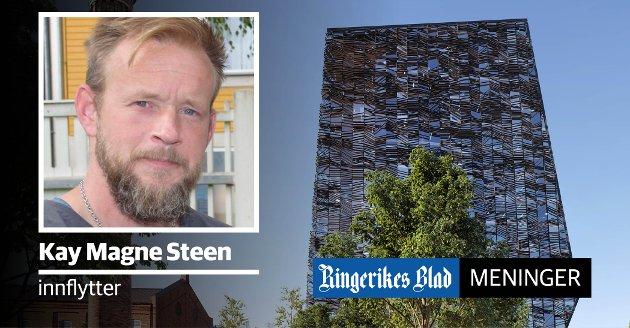 HØYHUS: – En utvikling av byen bør jo være for byens beste. Og hva vil det si, spør Kay Magne Steen. (illustrasjon: Snøhetta)