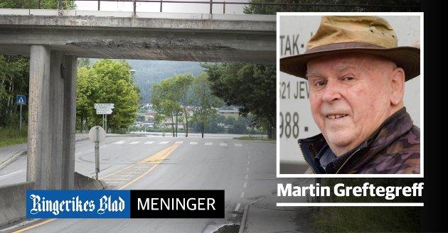 SLØSING: – Min påstand er at endringer av jernbaneundergang og kryssløsning er sløsing av midler., skriver Martin Greftegreff.