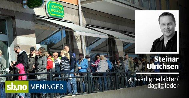 Nordmenn står for tre prosent av all detaljhandel i Sverige - alkohol er en viktig lokkevare.