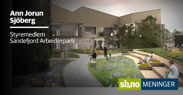 Ann Jorun Sjöberg stemte for nytt sykehjem på Haukerød - men det var ikke denne løsningen som fikk flertall.