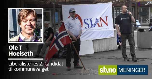 SIANs stand i Sandefjord provoserte mange, også Liberalistene.