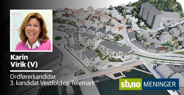 KONTROVERSIELT:  Hvordan foregikk prosessen fram til planen for Carlsenkvartalet ble fremmet for politisk behandling, undrer Karin Virik (V).