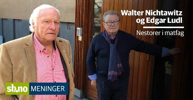 Walter Nichtawitz (t.v.) og Edgar Ludl mener rektoren ved Sandefjord bærer et tydelig ansvar for å markedsføre matfag.