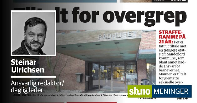 Sandefjords Blad har brukt navn i dekning av denne saken, her redegjør ansvarlig redaktør Steinar Ulrichsen om bakgrunnen for vurderingen.