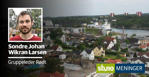Vi betaler skatt av eiendom i Sandefjord, og det er det mange som ikke har fått med seg, skriber Sondre Johan Wikran Larsen, Gruppeleder Rødt Sandefjord, Sandefjord.