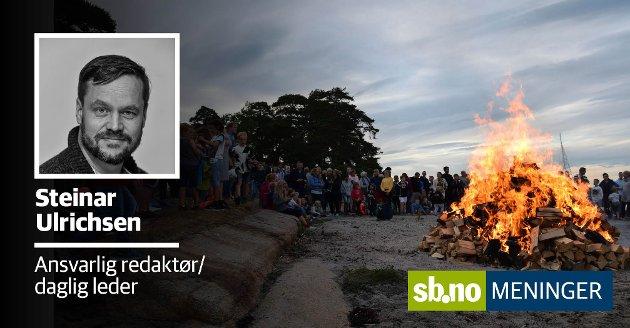 SANKTHANS: 2021 må skal byens jubileum feires på en helg nærme sankthans, så hvorfor ikke like gjerne flytte hele feiringen, spør ansvarlig redaktør og daglig leder i Sandefjords Blad, Steinar Ulrichsen.