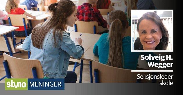 MEDVIRKER: Elevundersøkelsen viser at elever i sandefjordskolen trives og får godt støtte av lærerne.