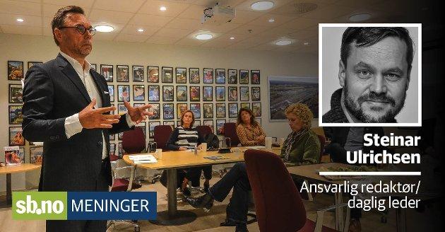 Øyvind Hagen fra hotellkjeden Choice kan fortelle om gråt på allmannamøter. Det er mye sterk kost om dagen.