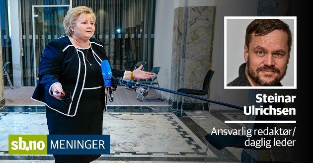Statsminister Erna Solberg har fått noe å svare for om dagen.