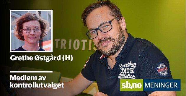 Grethe Østgård (H) mener redaktør Steinar Ulrichsen har ett og annet å lære hva gjelder logikk.