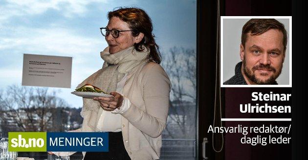 Grethe Østgård (H)  ble erklært inhabil i varslersaken - da er det bare rart at det er hun som skal redegjøre hvorfor kontrollutvalget ikke vil granske saken.