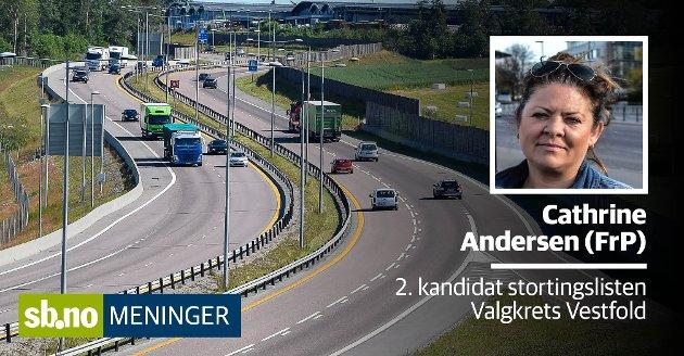 Det er avgifter på vei, bil og arbeid og mye mer, skriver Catrhine Andersen (FrP).