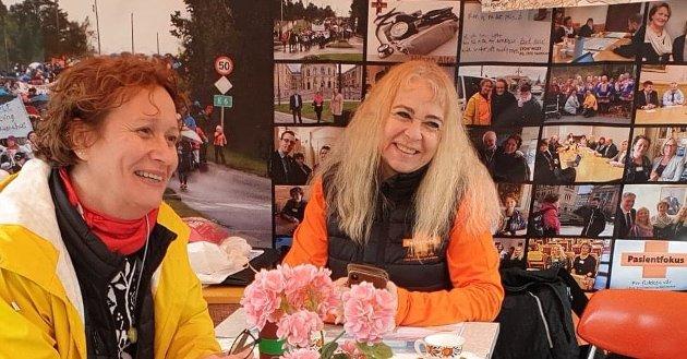 Irene Ojala og Unn Hariet Vekve på Eidsvolls plass oktober 2020.  For flokken vår i Alta, Kautokeino og distriktene i Finnmark.