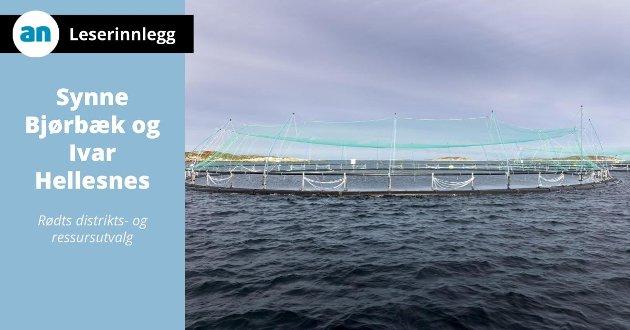 SalMar, et lakseoppdrettsanlegg til havs i Frohavet på Trøndelagskysten.