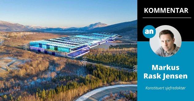 En planlagt fabrikk med 2.000 arbeidsplasser på Fauske, bør hylles også i Bodø, skriver konstituert sjefredaktør Markus Rask Jensen.