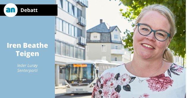 - Senterpartiet vil fortsette å jobbe for reduksjon i ferge- og båtpriser i Nordland, skriver Iren Beathe Teigen.