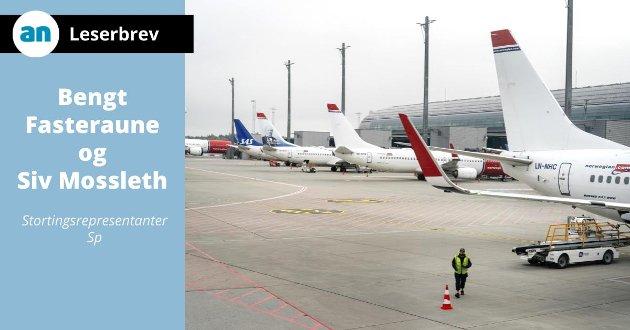 - Luftfarten er en nødvendig del av en moderne infrastruktur, skriver Mossleth og Fasteraune i dette innlegget.