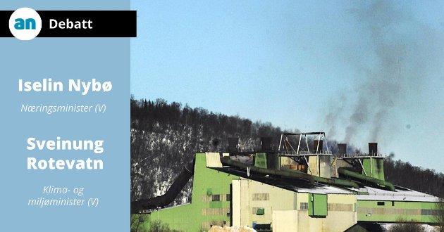 Røyksøylen fra Elkems anlegg i Sørfold er ikke der lenger.