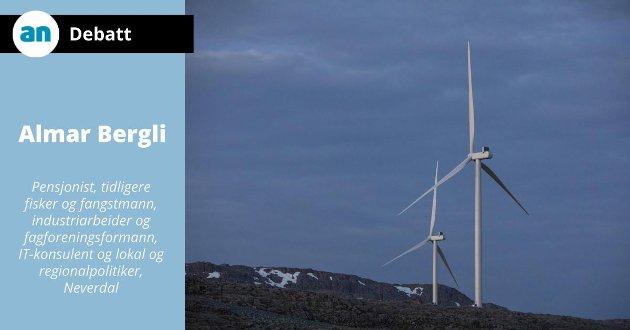 - Men summa summarum, bidrar nok vindkraftindustrien negativt til klimaproblemet, etter min mening, skriver Almar Bergli