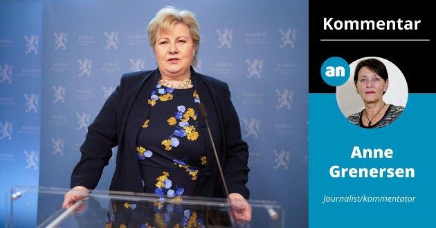 Når statsminister Erna Solbergs varsler en tale til folket en søndag kveld, forventes det at talen skal ha innhold, ikke bare en flom av honnørord.
