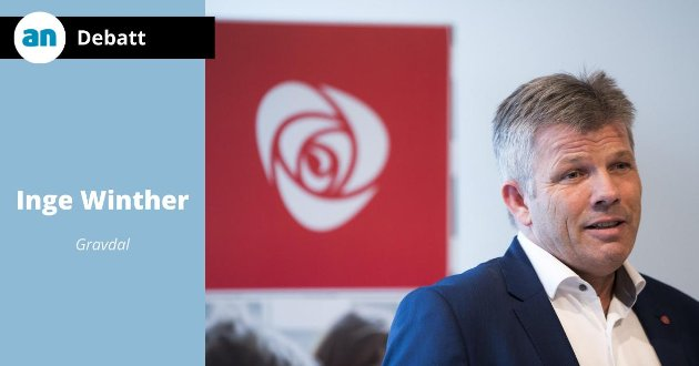 - Her opplever vi altså at ledende politikere, med nestformannen i Arbeiderpartiet Bjørnar Skjæran i spissen, gir seg faen i smittevernregler for å feste etter årsmøtemiddagen! skriver Inge Winther.