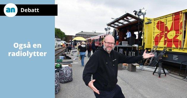 Martin Steinholt kaller seg ofte Martin morramann når han leder morgensendingene i NRK Nordland.