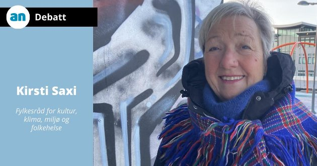 Kirsti Saxi, fylkesråd for kultur, klima og miljø og folkehelse.