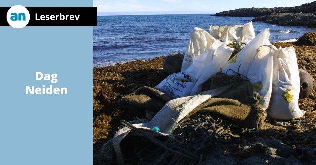 Den som forurenser er ansvarlig for å fjerne forurensingen. Dersom dette prinsippet ikke gjøres gjeldene for plastindustrien ser det mørkt ut for livet i havet, skriver Neiden. Bildet er fra den uberørte Svalbard-naturen hvor det driver store mengder søppel inn på strendene.
