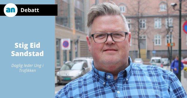 Dette er en plan som over de neste tolv årene reduserer sjansen for at du og jeg mister en venn i trafikken., skriver Stig Eid Sandstad,