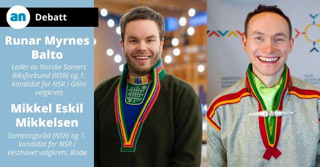 Mikkel Eskil Mikkelsen til venstre og Runar Myrnes Balto til høyre.