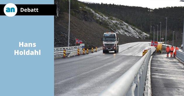 Fra åpningen av nybrua på Finneid i oktober 2018.