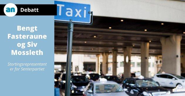 Senterpartiet vil sørge for at å kjøre drosje fortsatt skal kunne være et levebrød, altså heltidsjobb.