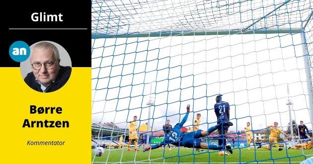 En offside-plassert Amidou Diop forstyrret Glimt-keeperen og dermed ble det ikke noen mål på Kristiansund.