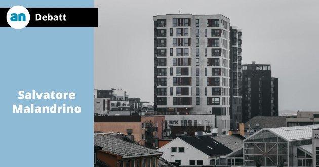 Sentrum i Bodø blir bebodd av folk som har råd til å kjøpe seg dyre leiligheter eller husvære.