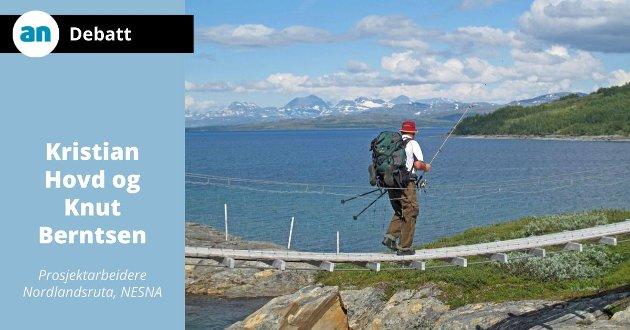 Nordlandsruta går forbi Balvatnet i Junkerdal nasjonalpark.